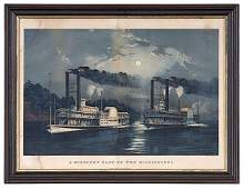 385 Currier and Ives Color Lithograph