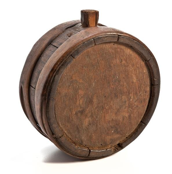 4: Early American 18th Century Oak Canteen