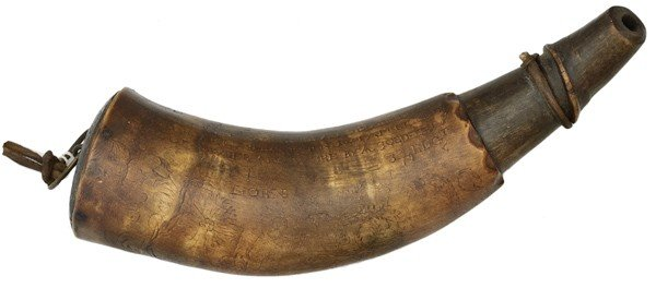 12: French And Indian War Engraved Powder Horn