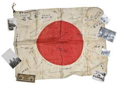 626: WWII Yamashita Archive w/ Flag Signed by POWs