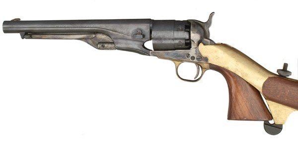 1155: Navy Arms Reproduction Colt 1860 Army with Should - 2