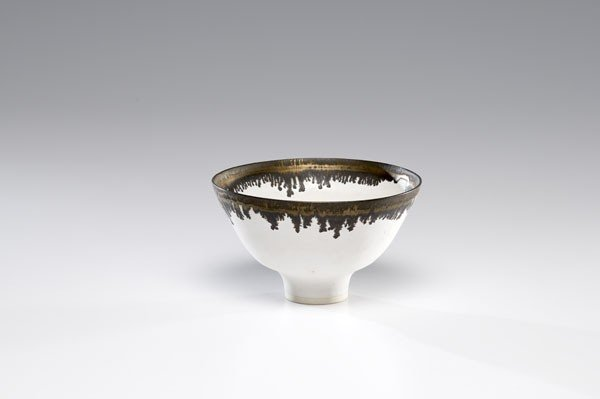 12: Lucie Rie, White Bowl with Bronze Rim