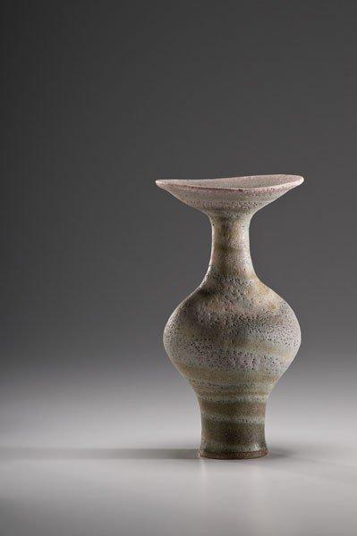 20: Lucie Rie, Swirl Glaze Stoneware Bottle