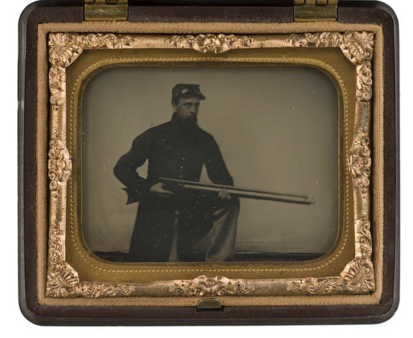 7: Ninth Plate Ambrotype of Cpl. Abner Colby, Co. G., U