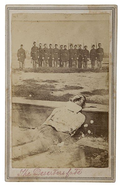 15: Graphic CDV of Military Execution