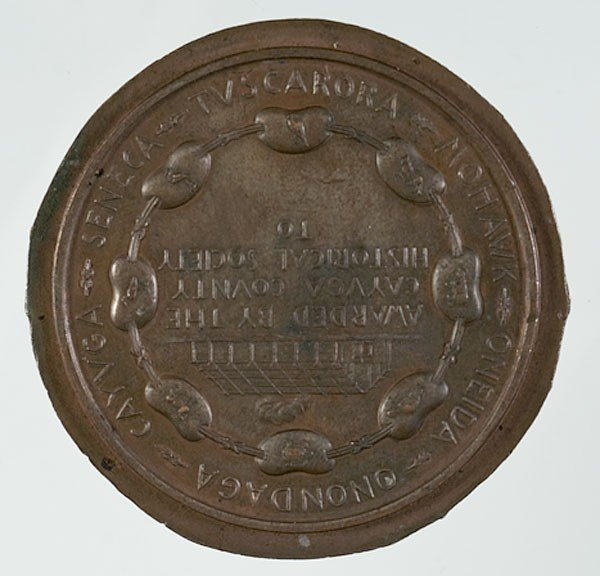 456: Cornplanter Medal for Iroquois Research, Tiffany - 2