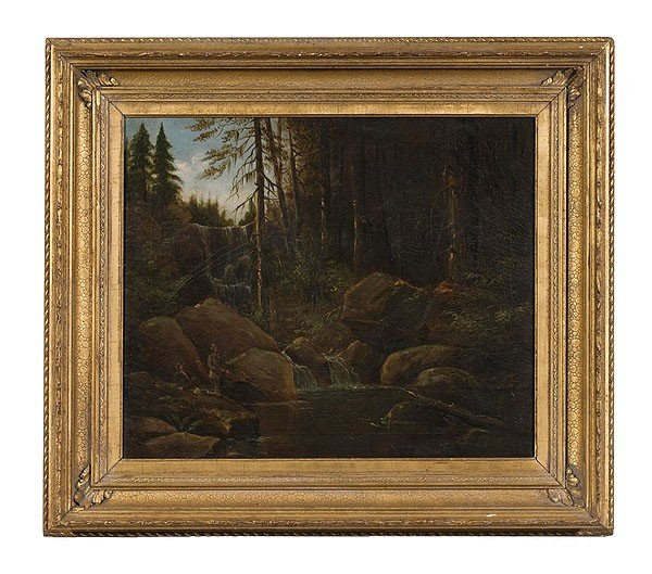 2: Landscape, American School, Oil on Canvas