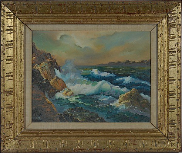 22: Seascape, Oil on Canvas