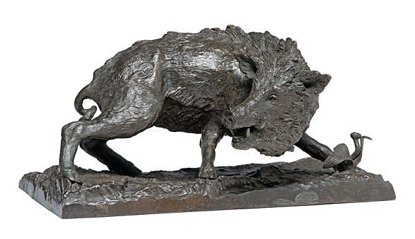17: An Italian Bronze Figure of a Boar