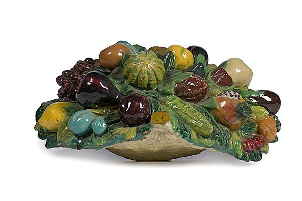18: Italian Faience Basket of Fruit, Plus