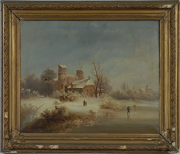 2: Winter Landscape, Oil on Canvas