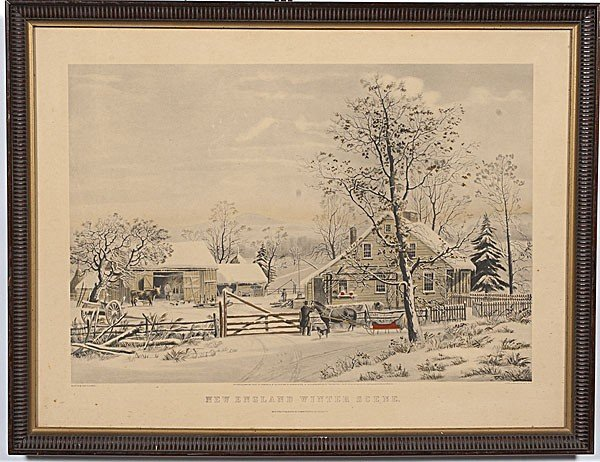 22: New England Winter Scene Reproduction Print