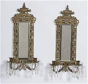 258: Bradley & Hubbard Mirrored Sconces