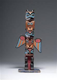 20: Northwest Coast Painted Totem