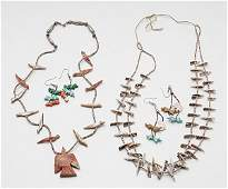 476: Pueblo Fetish Necklaces and Earrings