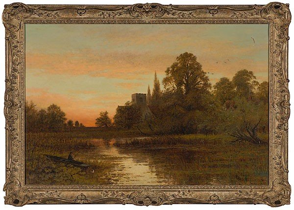 3: Bucolic Landscape by Charles L. Coppard, Oil on Canv