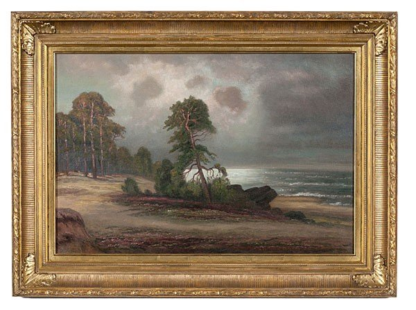 5: Stormy Landscape by Ivan F. Choultse, Oil on Canvas