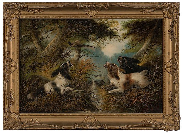 6: Spaniels Putting Pheasant Up After George Armfield,