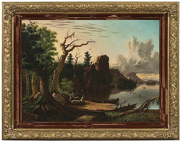 10: American Landscape with Indian by AC Van Scoter, OH