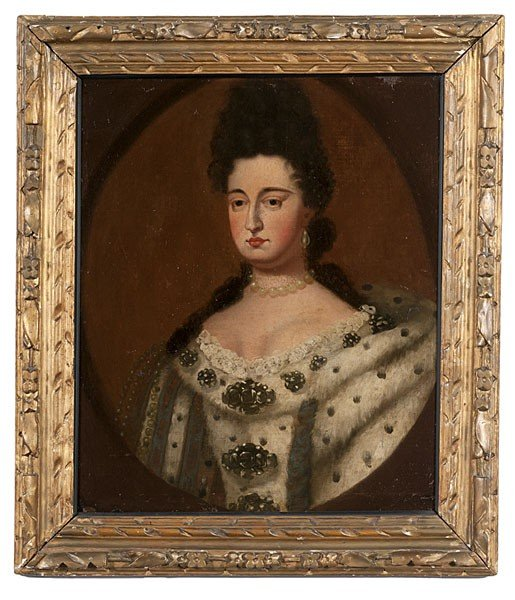 14: Portraits of King William III & Queen Mary II, O/B