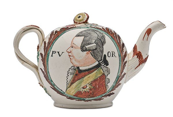 15: Prince William V Creamware Teapot