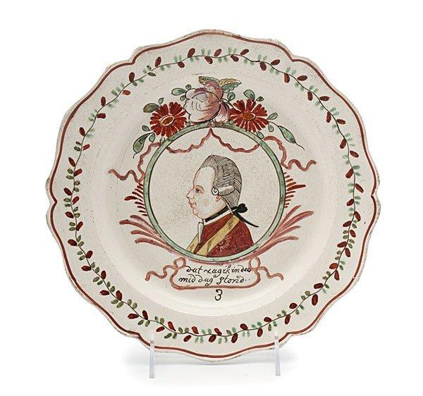 16: Prince William V Creamware Plate