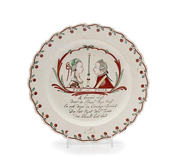 17: Prince William V Creamware Plate