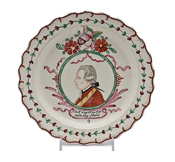19: Prince William V Creamware  Plate