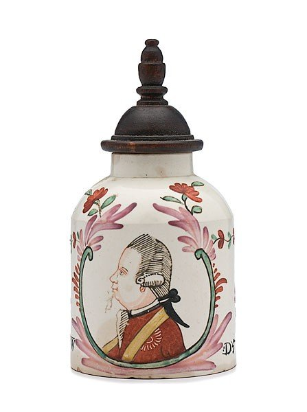 20: Prince William V Creamware Tea Caddy
