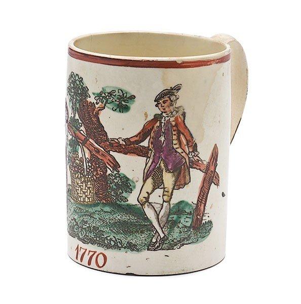 21: English Creamware Mug