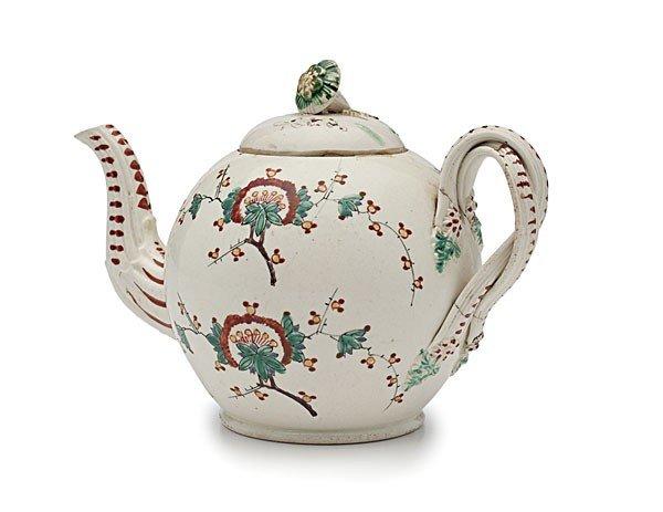 22: English Polychrome Teapot