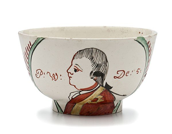 23: Prince William V Creamware Waste Bowl