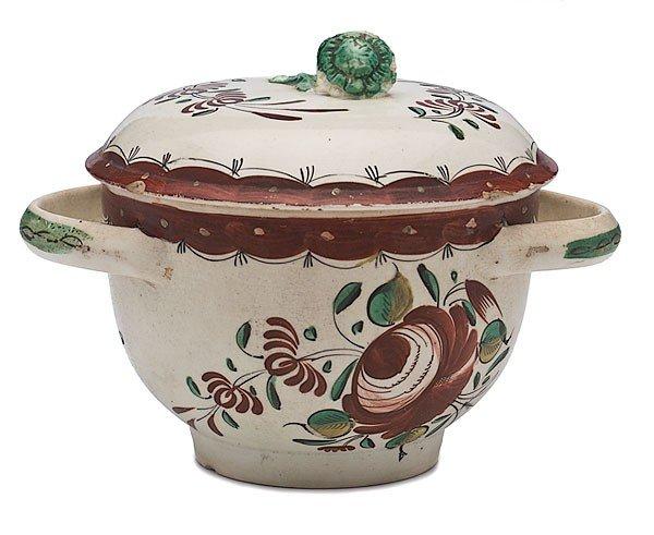 24: King's Rose Creamware Sugar Bowl