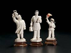 139: Chinese Carved Ivory Cultural Revolution Figures