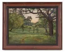 248 Landscape by ET Hurley Pastel on Paper Affixed