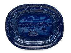 Historical Staffordshire Platter of Detroit