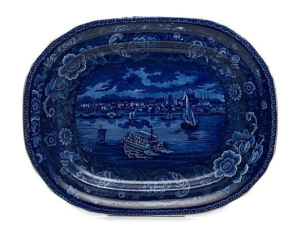 Historical Staffordshire Platter of Detroit