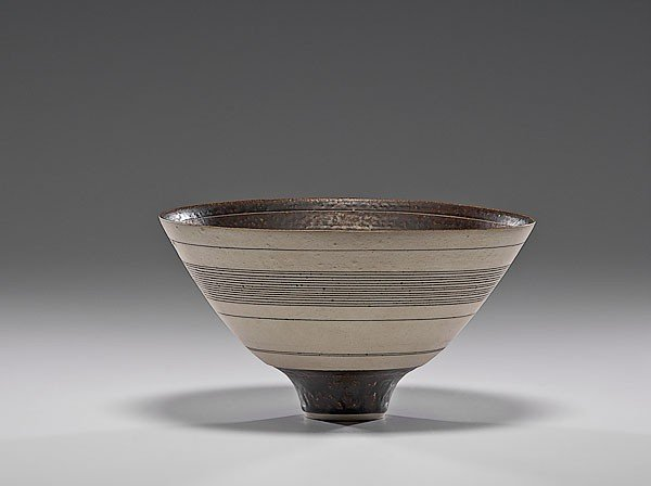 22: Masterworks: Lucie Rie Bowl with White Stripes