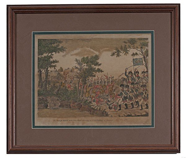 2: Fine War of 1812 Hand-Colored Engraving