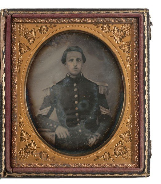 3: Sixth Plate Daguerreotype of a Northern Militia Serg