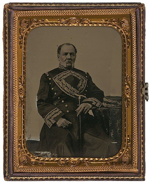4: Quarter Plate Ambrotype of Mexican General