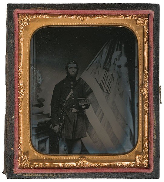 5: Sixth Plate Ambrotype of Flag Bearer