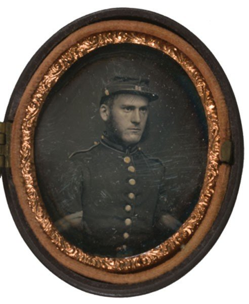 6: Ninth Plate Oval Daguerreotype of 22nd NYSM Corporal