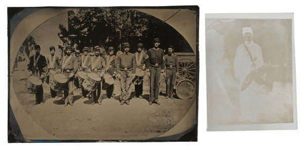 7: Civil War Tintype of the 8th Maine Drum and Bugle Co