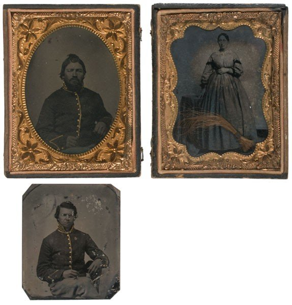 9: Pair of Quarter Plate Tintypes Attributed as James a