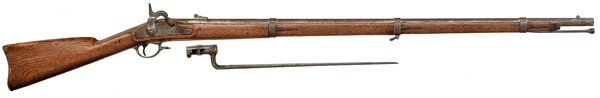109: Model 1861 Springfield Rifled-Musket With Bayonet