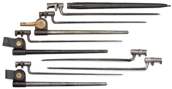 120: US Civil War & Indian War Bayonets Lot of Six