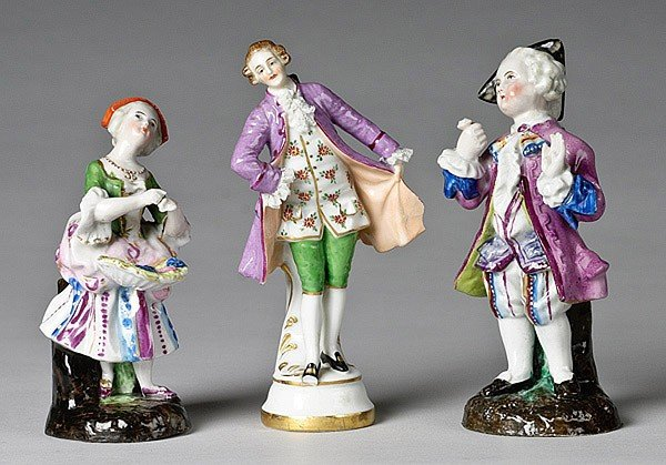 11: THREE MEISSEN-STYLE PORCELAIN FIGURES