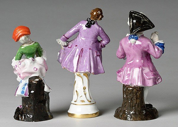 11: THREE MEISSEN-STYLE PORCELAIN FIGURES  - 2