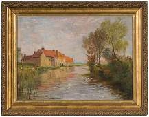 11 Landscape by Edmond M Petitjean Oil on Canvas
